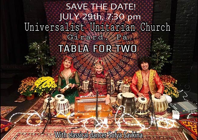 Tabla for Two at Universalist Unitarian Church