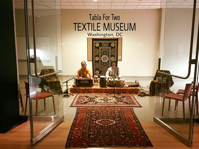 tabla for two at the textile museum washington dc