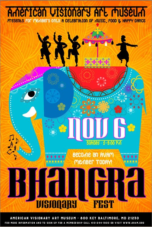 american visionary arts museum bhangra fest poster
