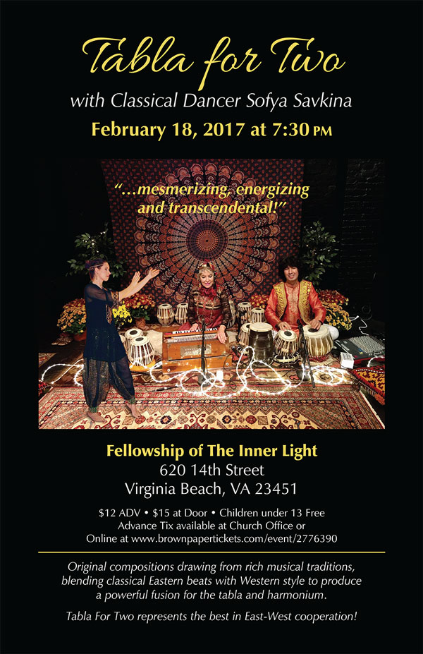 tabla for two concert poster virginia beach