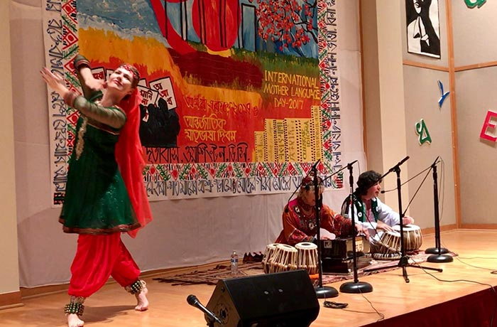 tabla for two at the embassy of Bangladesh