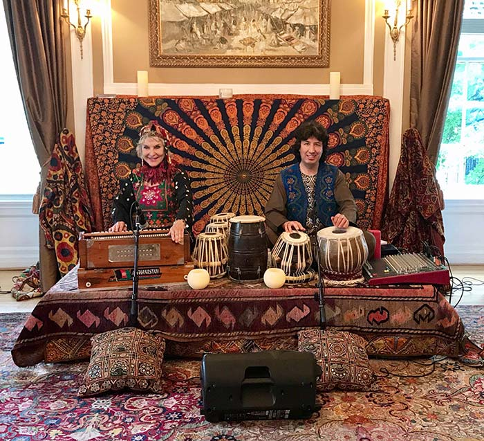 tabla for two at the embassy of Afghanistan